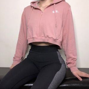 Nike Cropped Zip Up Hoodie